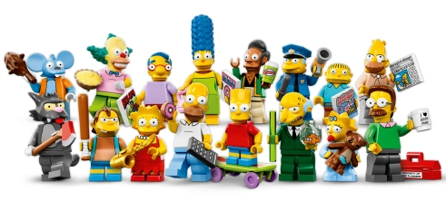 Simpsons Lego Figs