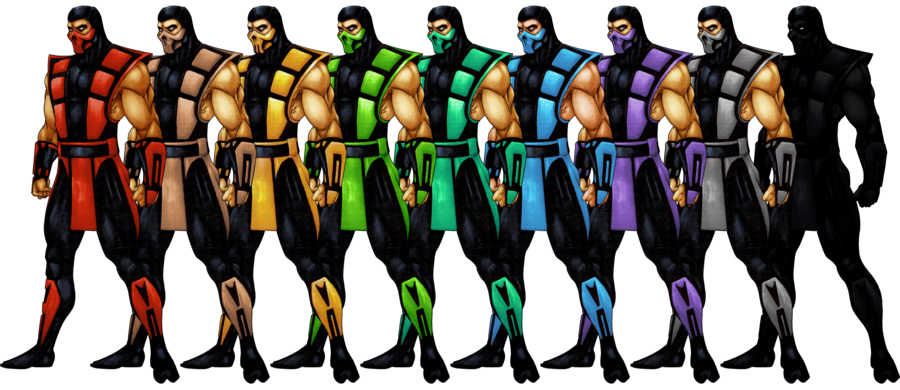 The Definitive Ranking Of The Mortal Kombat Palette Swapped Ninjas